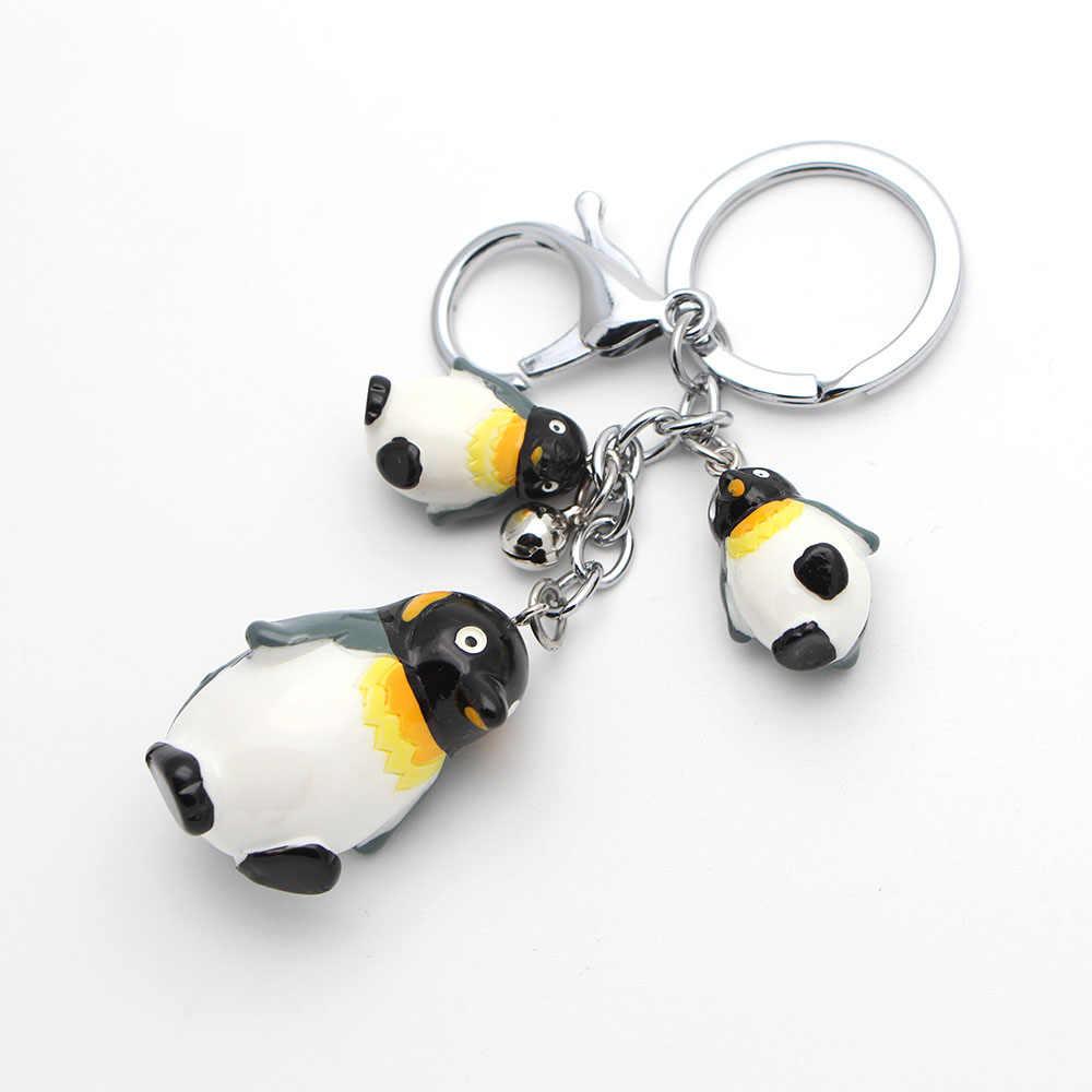 """MF1201 модные 3D Брелки """"Пингвин"""" игрушки брелки прекрасный мультфильм животных автомобиля Подвески с цепочками аксессуары"""