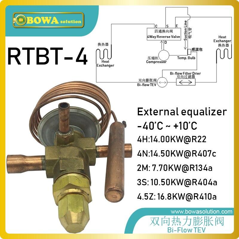 RTBT-4 raccord à souder bi-flux le détendeur thermostatique (5TR) est installé dans des machines intégrées à l'eau froide et chaude/huile