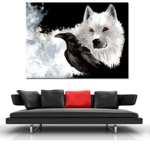Game Of Thrones White Wolf Canvas Painting Print Living Room Home Decoration Modern Wall Art Oil Painting Posters Salon Pictures худи print bar white wolf