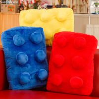Lego pillow creative 3d blocks hold game large cushion Retro Camera Home Decorative Linen Cotton Blended Cushion