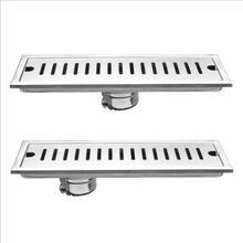 304 Stainless Steel Increase Thickness Rectangular Floor Drain Kitchen Bathroom Shower Room Strip Shape Deodorant Floor Drain