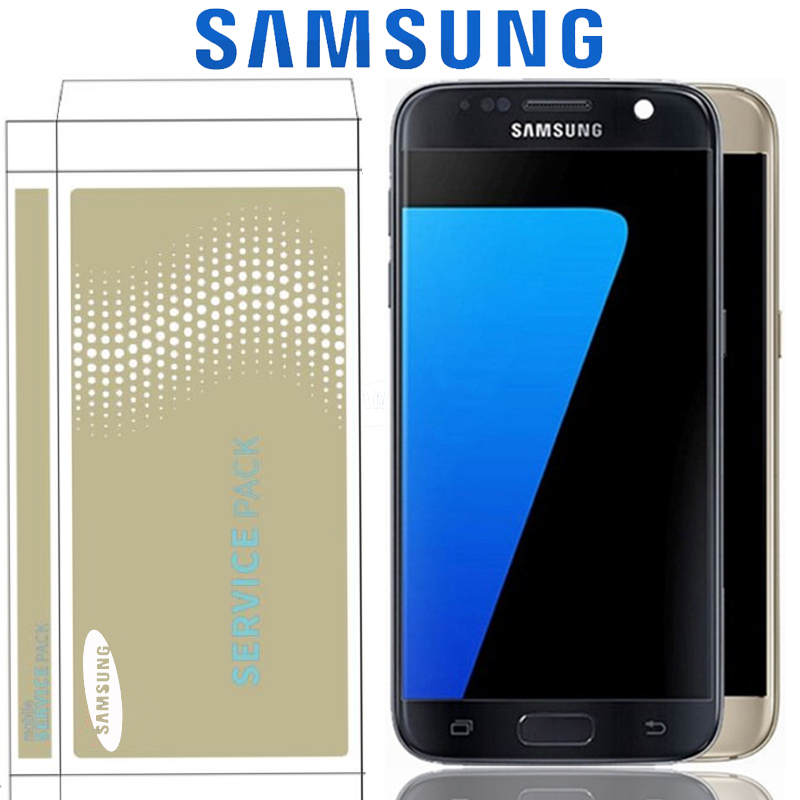 Original 5 1 Display For Samsung Galaxy S7 G930 G930F LCD With Touch Screen Digitizer Assembly