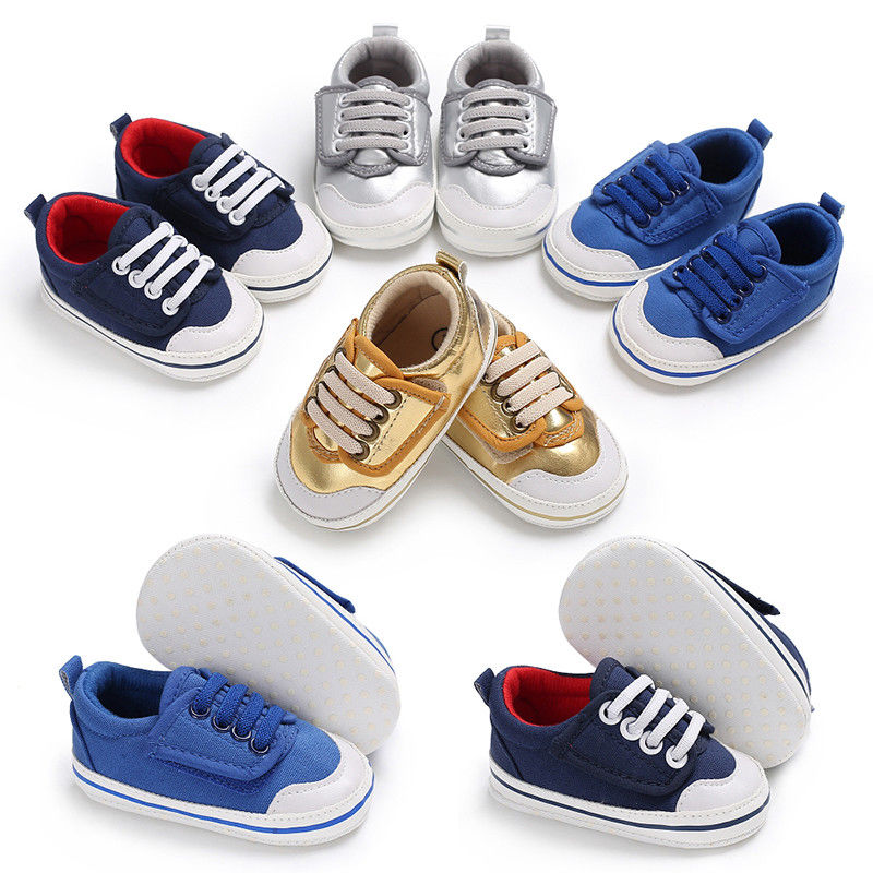 Infant Newborn Baby Boy Girl Soft Sole Pu Leather Pram Shoes Trainers 0-18month Wide Varieties Mother & Kids