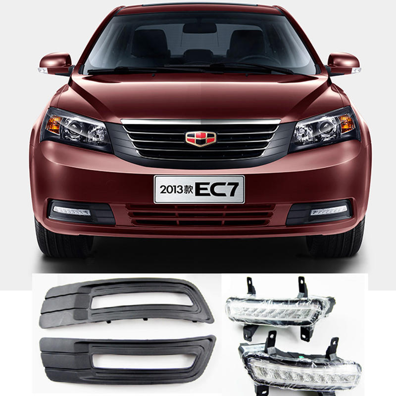 Geely Emgrand 7 EC7 EC715 EC718 Emgrand7 E7,front  LED daytime running light,Car modification,original car parts. geely emgrand 7 ec7 ec715 ec718 emgrand7 e7 car right left taillights rear lights brake light original