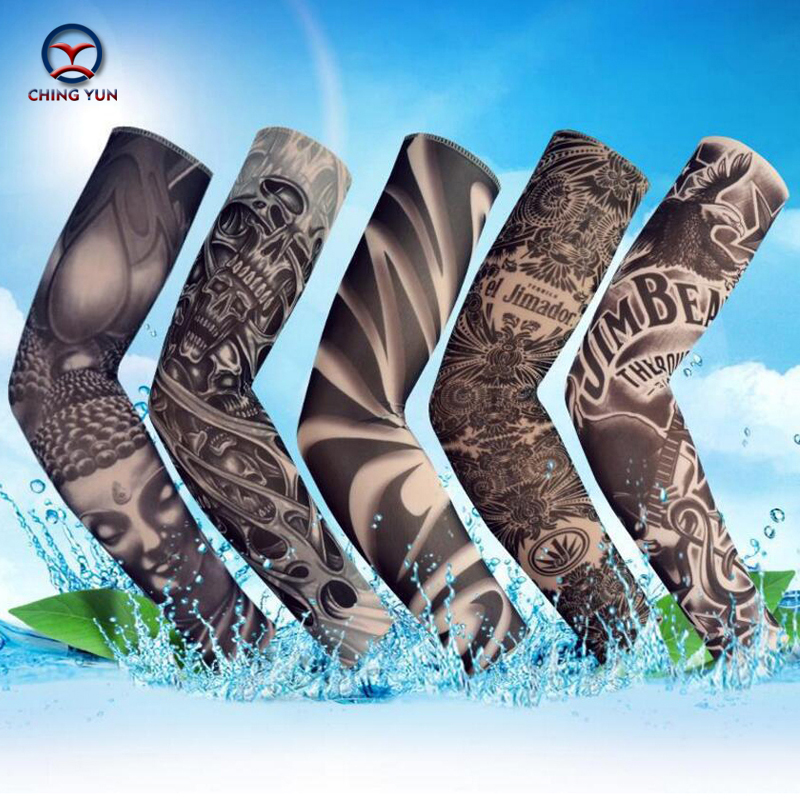 CHING YUN New Fashion Tattoo Sleeves Arm Warmer Unisex UV Protection Outdoor Temporary Fake Tattoo Arm Sleeve Warmer Sleeve HW