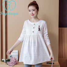 3726# Quality Lace Maternity Blouses with Ties Waist 2018 Spring Fashion Clothes for Pregnant Women Office Work Pregnancy Tops