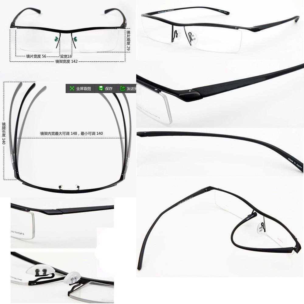 8186a0811614 100% TITANIUM Commercial MEN gentlemen designer high class style glasses  frame