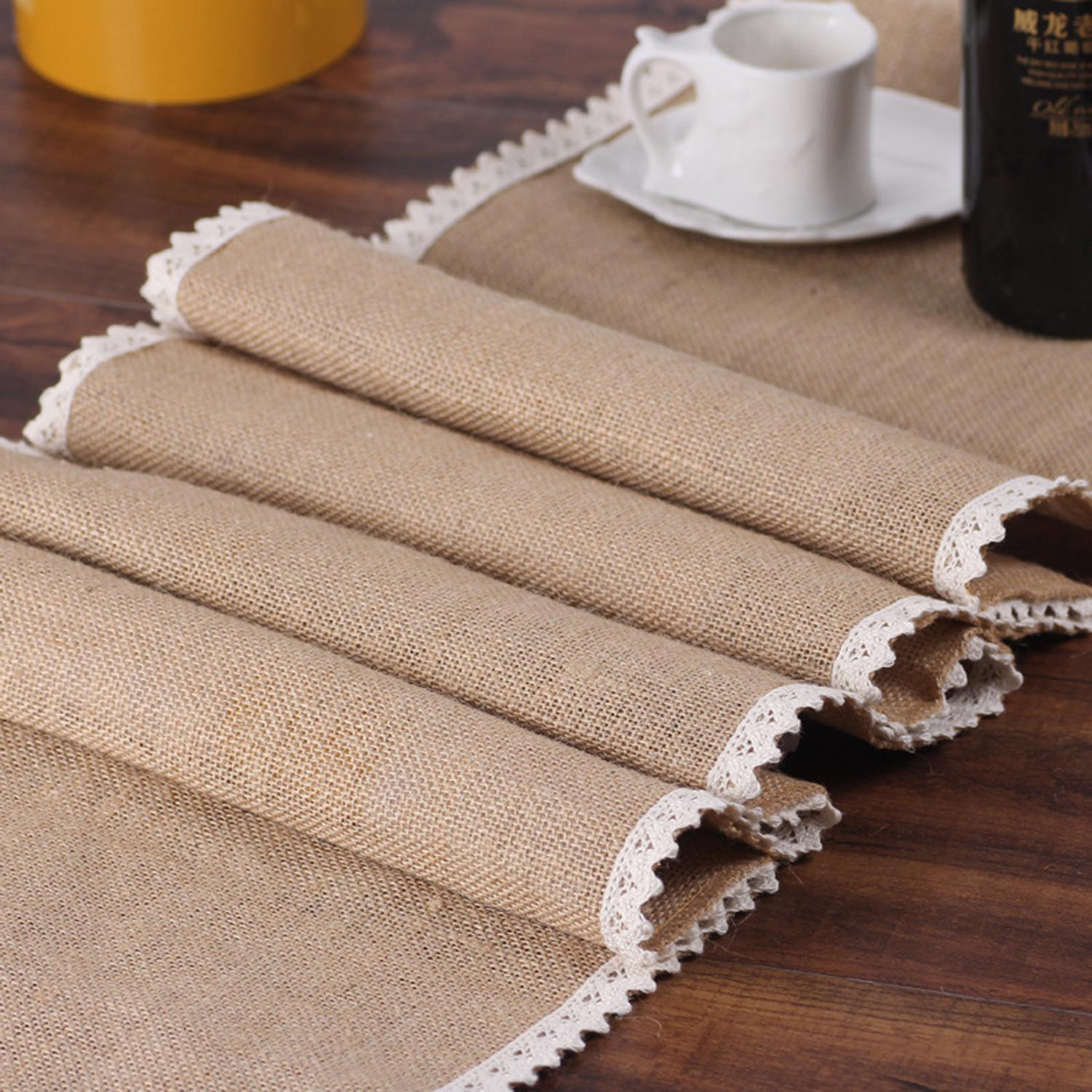 Tfbc Party Supplies Linen Table Runner Flag Lace Table