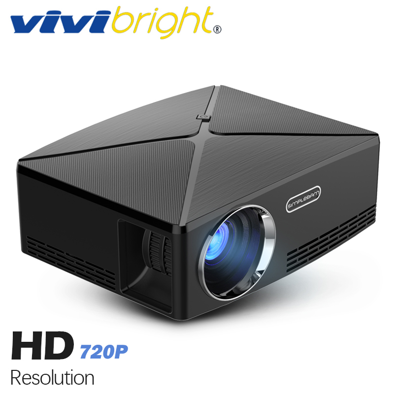 VIVIBRIGHT proyector HD MINI C80. 1280x720 Proyector de Video, ayuda 1080 p (opcional C80. Android 6 Beamer, WIFI, Bluetooth)
