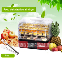 220V Electric Food Dryer Fruits Vagetables Drying Machine 250W Pet Treats Dehydrators PP Plastic Material 40