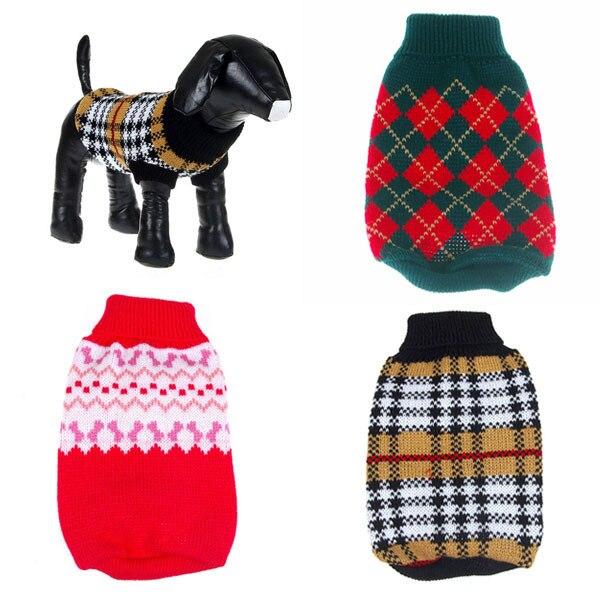 Perro de mascota Suéter Que Hace Punto Caliente Del Ganchillo Ropa ...