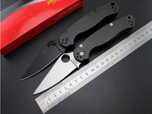 The newr C81 carbon fiber handle 7 cr13mov folding knife blade, 58 HRC hunting knife, camping outdoor survival tools