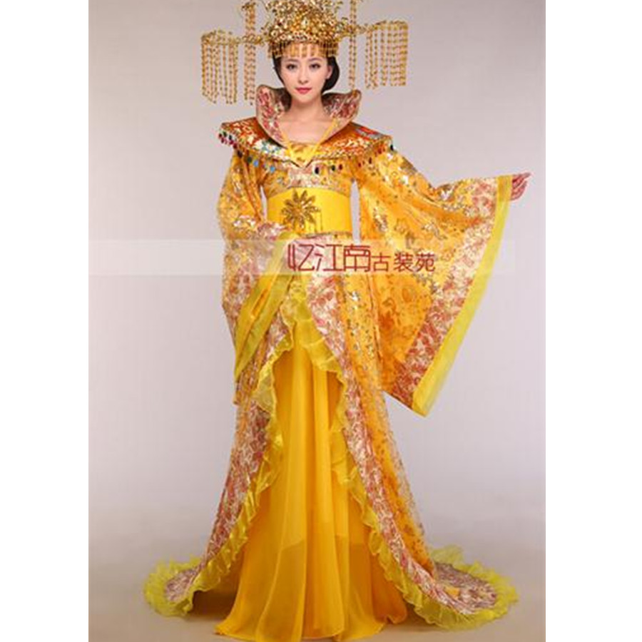 Women s stand collar the noble temperament trailing dress the queen of the tang dynasty clothing
