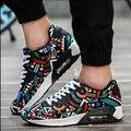 Zapatilla de deportar moda transpirable hombres aire libre zapatillas masculino zapatos multicolores zapatos de lona unisex ocasional más el tamaño de la calle