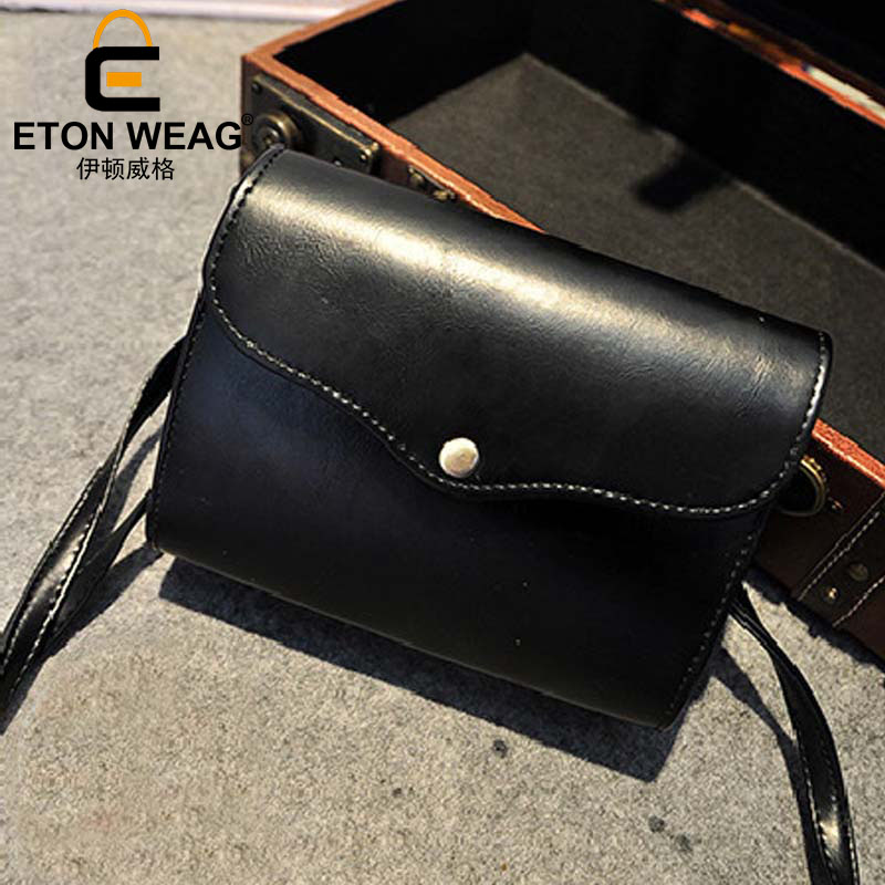 ETONWEAG Famous Brands Cow Leather Bags Women Messenger Bags Black Vintage Crossbody Shoulder Bag Envelope Small Woman Bag 2017 women messenger bags 2016 vintage stone line women bags casual leather envelope crossbody shoulder bags