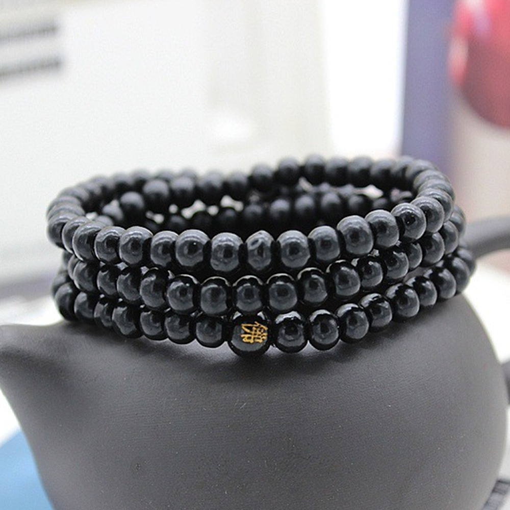 6/8mm Natural Sandalwood Buddhist Buddha Meditation Beads Bracelet For Women Men Prayer Bead Rosary Hanging Decoration #280748