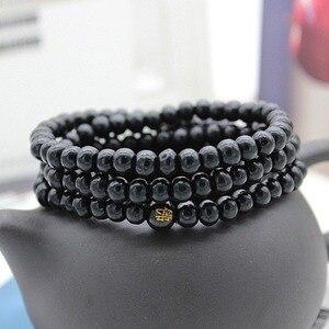 Image 5 - 6/8mm Natural Sandalwood Buddhist Buddha Meditation Beads Bracelet For Women Men Prayer Bead Rosary Hanging Decoration #280748