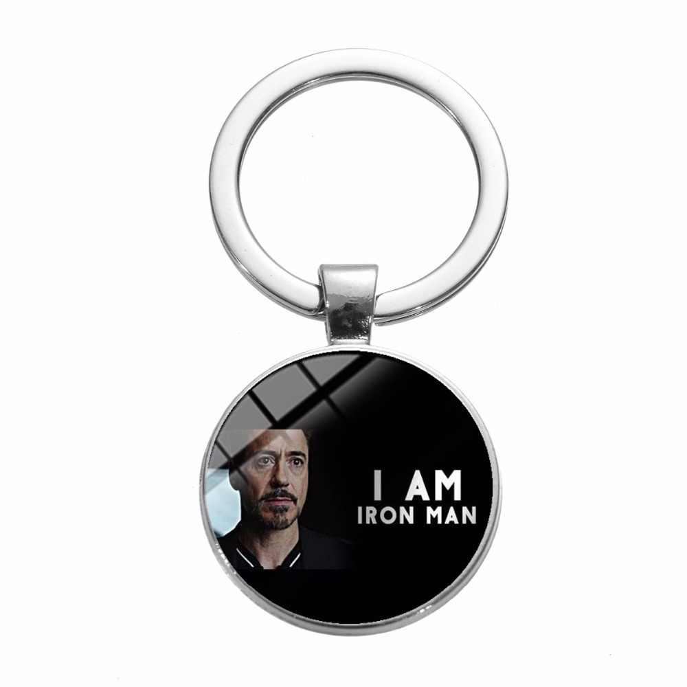 SONGDA 4 Marvel Os Vingadores Homem De Ferro Tony Stark Keychain Endgame Reino Quântico Série Titular do Anel Chave Do Carro Chaveiro porte Clef