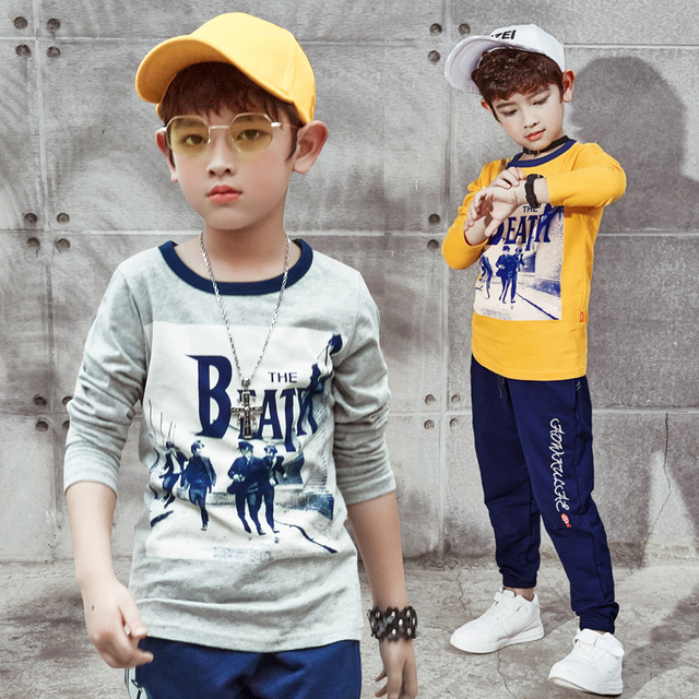 72d179577 2017 Fashion trend designer boys sweatshirt cottont shirt for boys 5-9  years kids clothes spring autumn boys tops tees clothes
