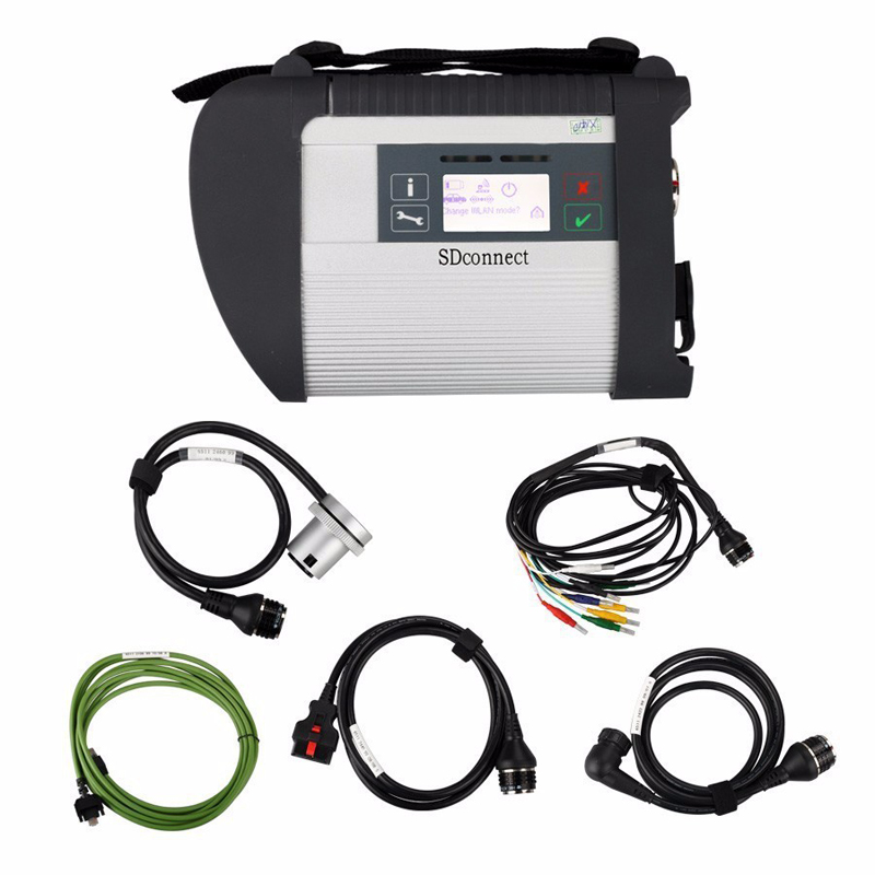 2019 mo étoile Compact 4 ensemble complet avec prise en charge wifi multi-anguages SD Connect C4 pour MB voitures et Ttucks Diagnostic bonne qualité