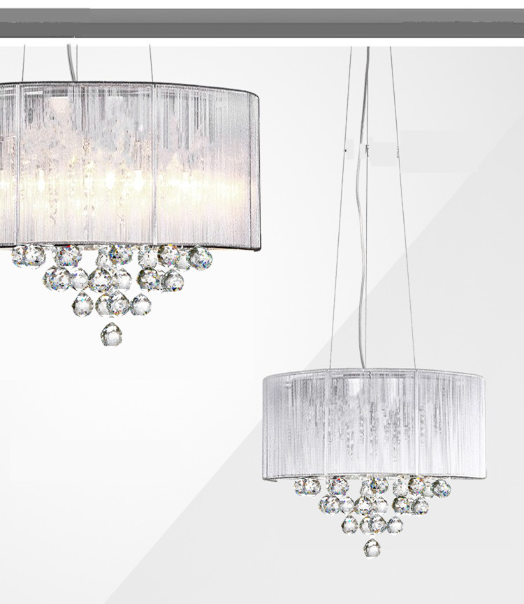 Modern LED lamps round crystal Chandeliers bedroom living room ...