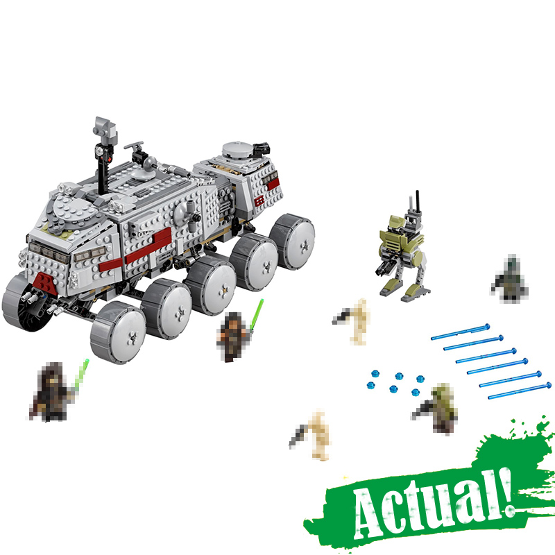 933Pcs 05031 Star Series War Clone Turbo Tank Building Blocks Compatible with 75151 Boys DIY Child Toys Gifts lepin