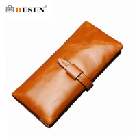 DUSUN Luxury Brands Genuine Leather Wallets Woman Casual Women Fashion Colorful Vintage Style Feminina