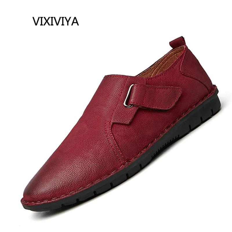 2018 neue Art und Weise Männer echtes Leder Freizeitschuhe Loafers - Herrenschuhe