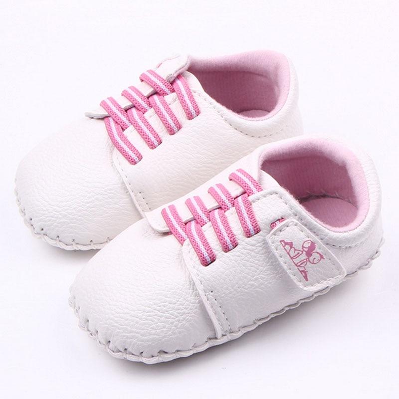 Baby boy girl dobrze PU ręcznie szycie miękkie dno buty dla dzieci - Buty dziecięce - Zdjęcie 2