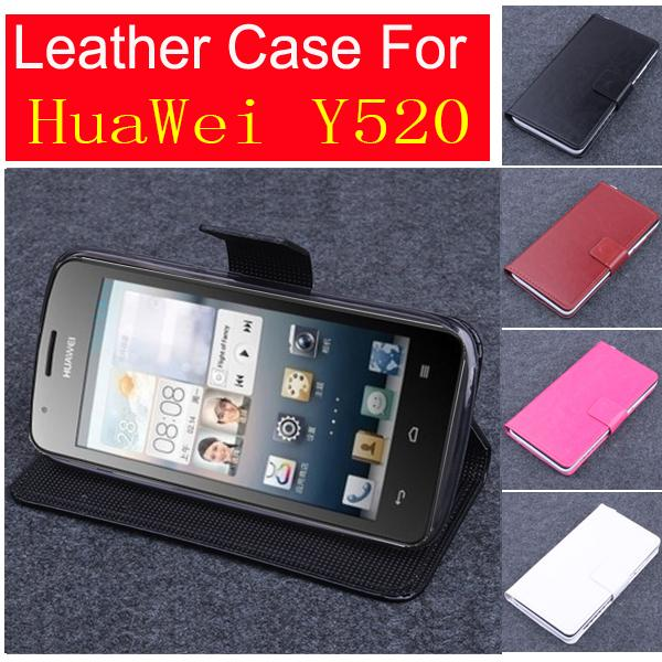ᗛДля Huawei Y520 чехол, хорошее качество кожаный чехол + ...