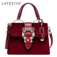 LAFESTIN Famous Bags Women Designer Lock Diamonds Handbags Luxury Totes Multifunction Brands Shoulder Bag Bolsa