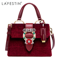 LAFESTIN Famous Bags Women Designer Lock Diamonds Handbags Luxury Totes Multifunction Brands Shoulder Bag Bolsa