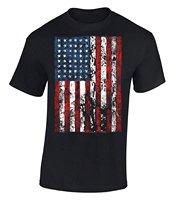 コットンジャージーメンズtシャツアメリカフラグユーズド加工tシャツ独立記念日アメリカフラグシャツコンフォートソフトコンサートtシャ
