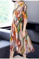 Удобное платье шелковое платье и печать мозаика shuangzhou шелк новый сезон весна лето 2018