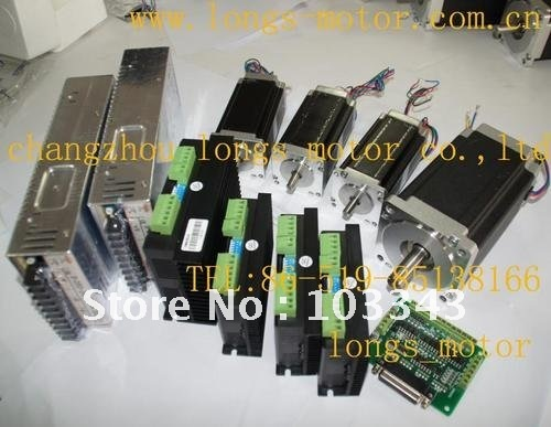 4Axis CNC controller kit 425oz &1232oz-in Stepper Motor, stepper motor driver <font><b>DM542A</b></font> DM860A,controller DB25 CNC/MILL image