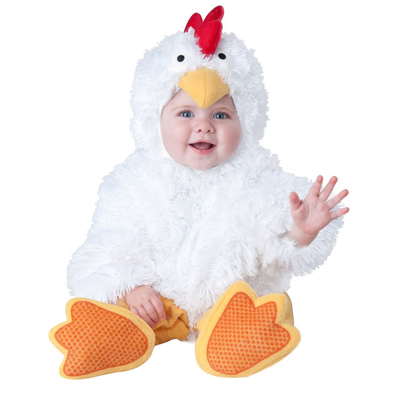Halloween Baby Boys Girls Toddler Infant White Chicks Outfit Fancy Dress Party Costume