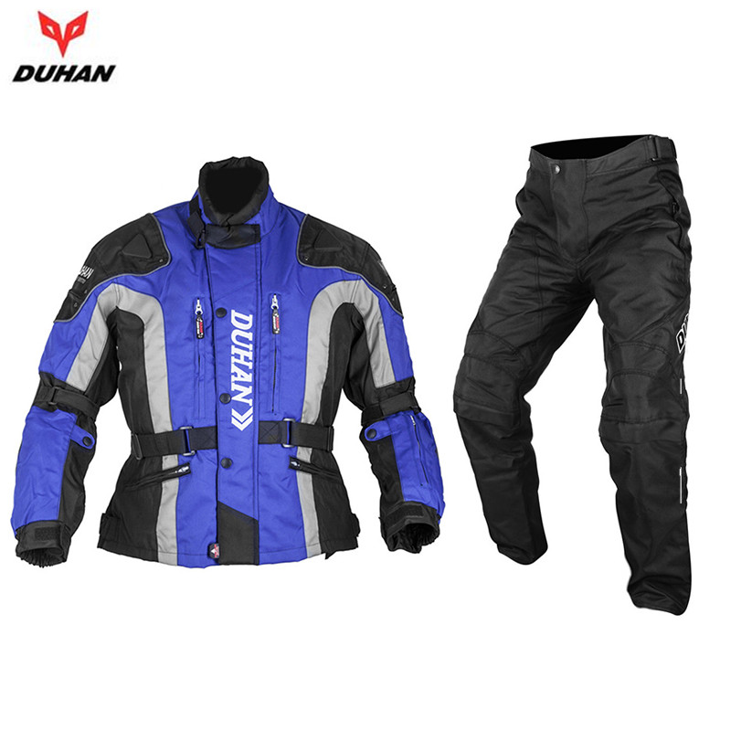DUHAN Men Riding Motocross Jersey And Pants Off Road Windproof Pants Body Protector Gear Rider Clothing