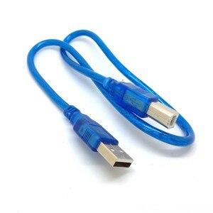 Image 3 - 1.5FT 50 سنتيمتر الأزرق قصيرة جديدة USB عالية السرعة 2.0 ألف إلى B الذكور كابل لكانون الأخ سامسونج Hp إبسون طابعة الحبل