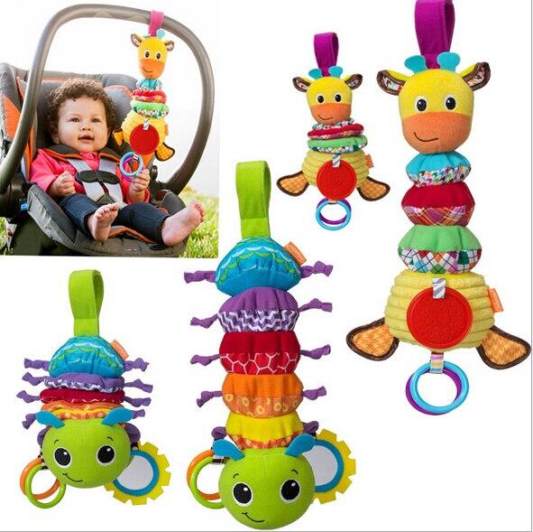 Кэндис го! самое новое прибытие супер милые жираф caterpillar красочные детские игрушки тянуть музыка кровать повесить подарок на день рождения 1 шт.