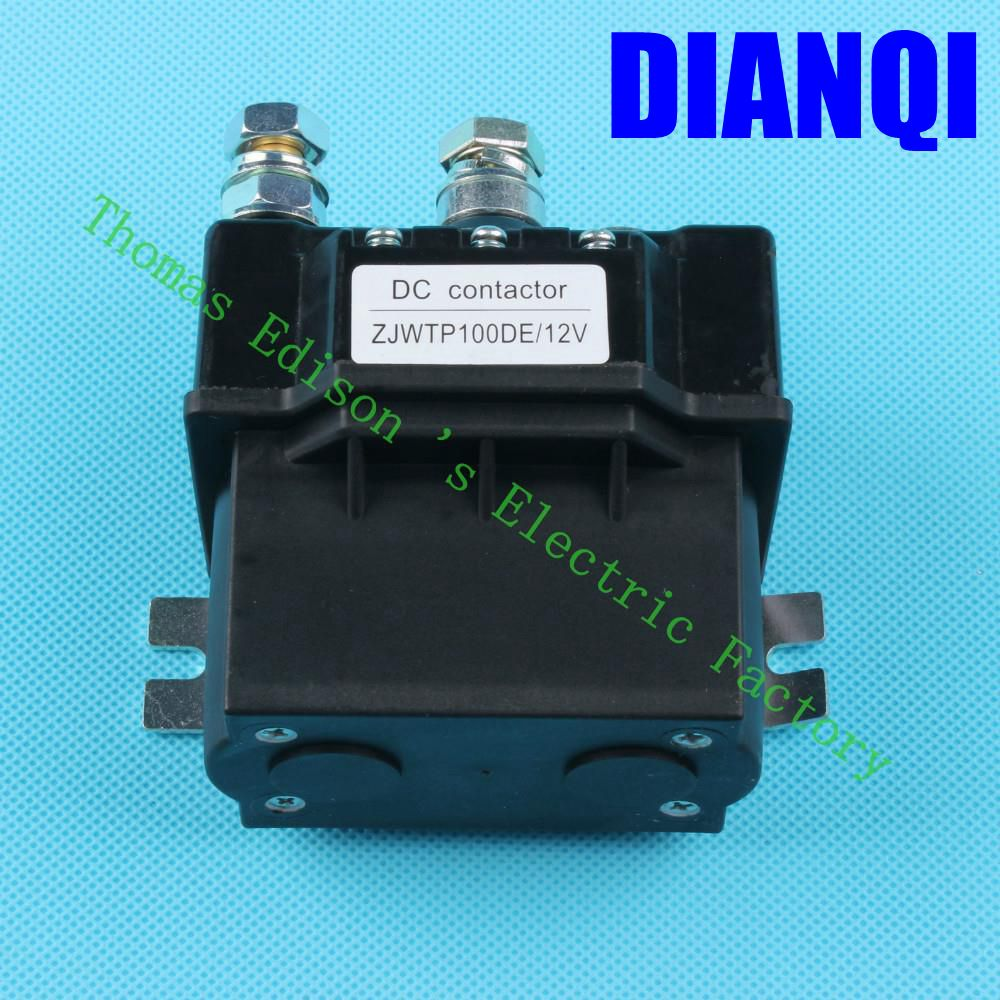 ZJWTP100DE ZJW100A SW80 contactor12V 24V 36V 48V 60V 72V contactor, dc contactor for electrical winch k400 good quality new lp2k series contactor lp2k06015 lp2k06015md lp2 k06015md 220v dc
