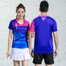 Женские теннисные рубашки, одежда для настольного тенниса для мужчин, майка для бадминтона, одежда для пинг-понга, тренировочный костюм для тенниса для девочек, униформа для стола 2618