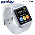 Nuevo bluetooth smart watch u80 smartwatch desgaste reloj usable dispositivo para iphone ios android smart wach teléfono pk u8 gt08 DZ09