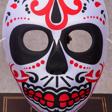 EVA Halloween Skull Mask Painted Peking Opera Mask FullFace Party Adult Kids Terror Gorgeous Supplies Ghost Masquerade Day Dead