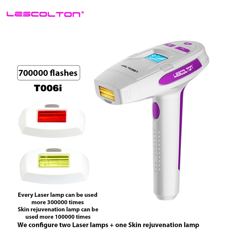 цена на Lescolton 700000 Puls 3in1 IPL Laser Hair Removal Machine Laser Epilator Hair Removal Permanent Bikini Trimmer depilador a laser