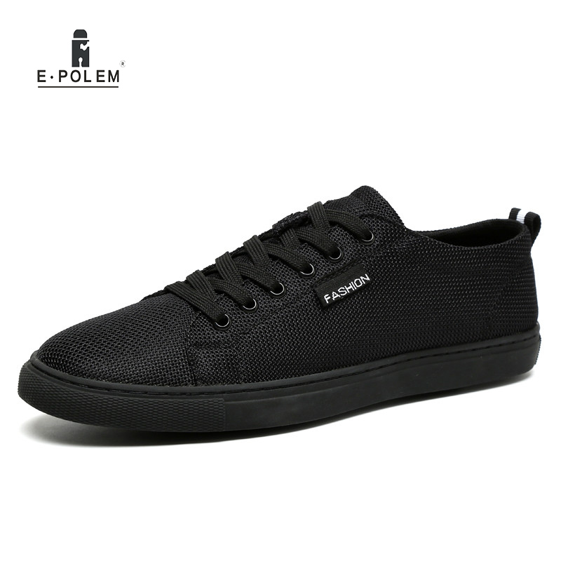 Men Casual Shoes Lace up Mesh Summer Breathable Shoe Black White Light 2017 Spring Flat Shoe for Men Male summer women shoes casual cutouts lace canvas shoes hollow floral breathable platform flat shoe sapato feminino lace sandals