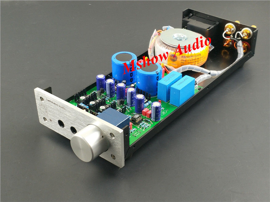 Finished HIFI audio headphone Refer to Lehmann amp circuit Headphone amplifier
