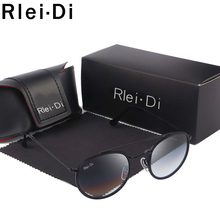 купить Vintage Round Sunglasses Women Fashion Mirror Sunglasses For Women Gradient Glass Lens Ladies Shades Brand Oculos Female UV400 по цене 842.43 рублей