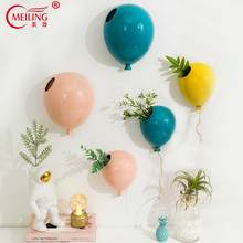 Creative Ceramic Balloon Decorative Wall Vase For Flowers Decoration Home Wedding Party Restaurant Bar Porcelain Hanging Vases