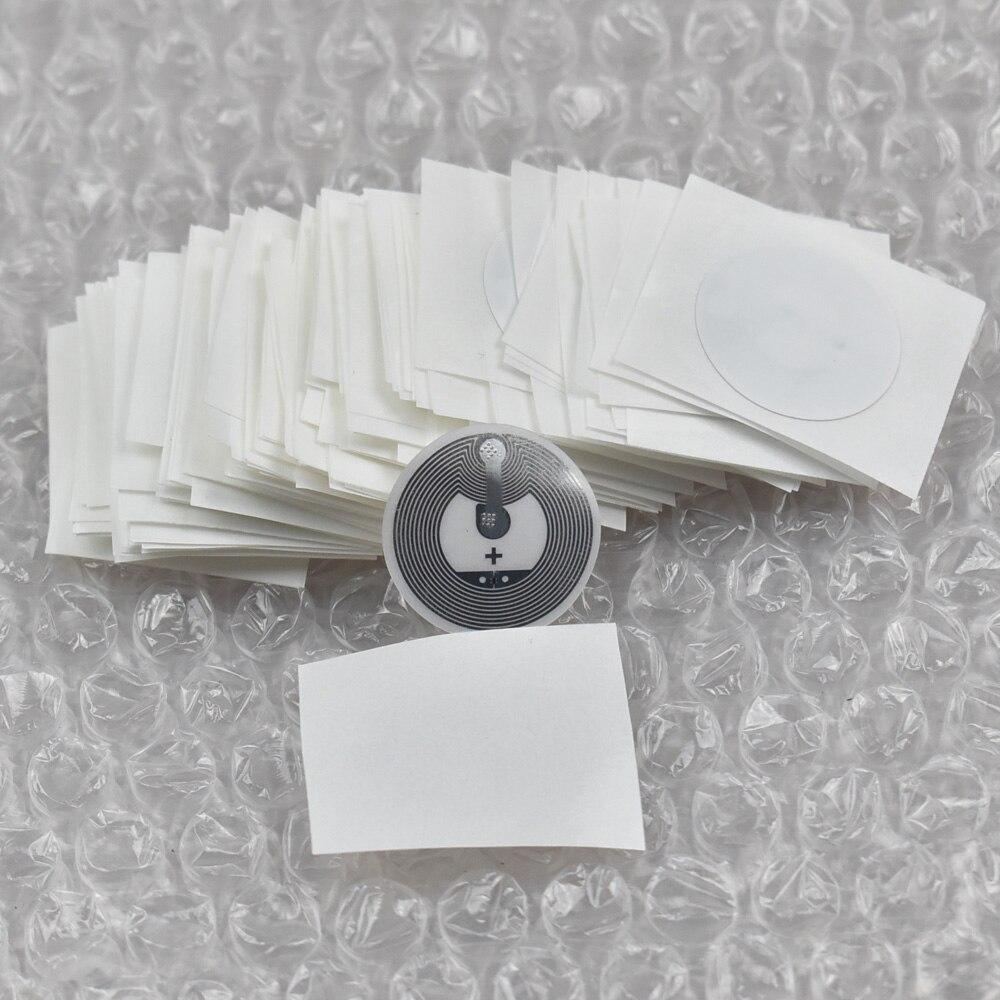 bilder für 50 teile/los 25mm runde Epaper rfid label aufkleber tag13.56MHz ISO1443A NTAG215 NFC Aufkleber für allen nfc-fähigen handys