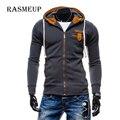 RASMEUP Autum Men Hoodies Sudaderas Hombre Mens Brand Cowl Spell Color Trend Hoodie Sweatshirt Slim Fit Men Hoody Hip Hop Xxl